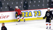 Watch:As the Flames kick off pre-season, a pair of NHL veterans are trying to stick around. Glenn Campbell reports.