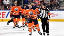 James Neal scored the Oilers' first preseason goal against the Winnipeg Jets on Sept. 16. (Source: Twitter / Edmonton Oilers)