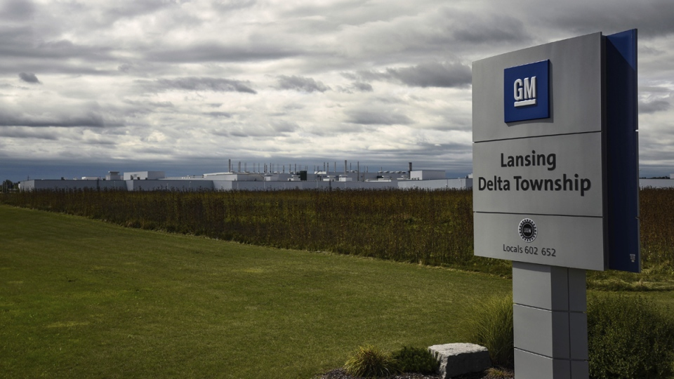 The General Motors Lansing Delta Township plant in Lansing, Mich., on Sept. 15, 2019. (Matthew Dae Smith / Lansing State Journal via AP)