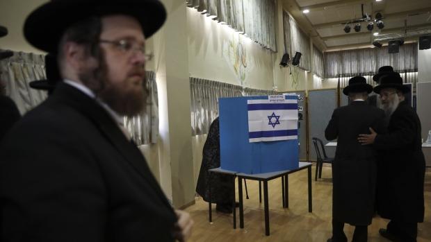 Voting in Bnei Brak, Israel