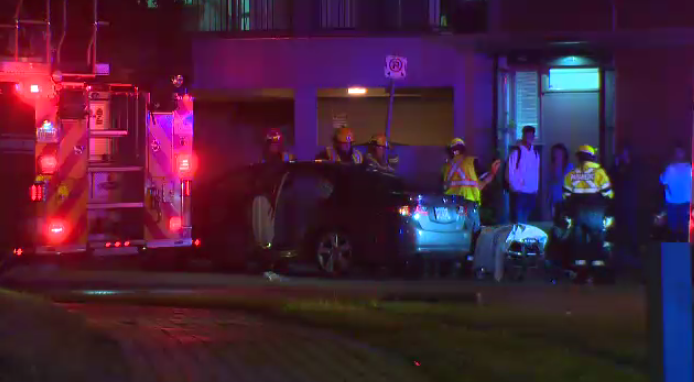 Police are investigating a collision at University Avenue and Lester Street that sent an individual to hospital.