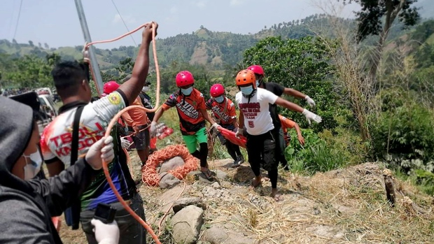 Retrieving the bodies of victims