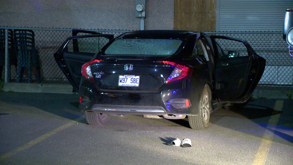 An armed man walked up to this vehicle and shot at the three occupants on Sept. 16, 2019. (CTV Montreal/Cosmo Santamaria)