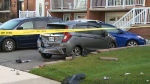 Police investigate after a man in his 20s was shot in Mississauga. (CTV News Toronto)