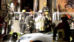 Crews were at a fire in an East Vancouver home Monday night.