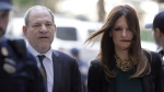 Harvey Weinstein, left, and attorney Donna Rotunno arrive at court for a hearing related to his sexual assault case in New York, on July 11, 2019. (Seth Wenig / AP)