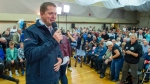 Federal Conservative Leader Andrew Scheer speaks at a rally in Parksville, B.C., on Sunday, Sept. 15, 2019. (THE CANADIAN PRESS / Frank Gunn)