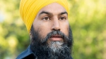 NDP leader Jagmeet Singh speaks during an announcement in Ottawa on Tuesday September 17, 2019. THE CANADIAN PRESS/Adrian Wyld