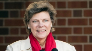 In this April 19, 2017, file photo, Cokie Roberts speaks during the opening ceremony for Museum of the American Revolution in Philadelphia. Roberts, a longtime political reporter and analyst at ABC News and NPR has died, ABC announced Tuesday, Sept. 17, 2019. She was 75. (AP Photo/Matt Rourke)