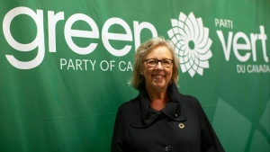 Federal Green Party Leader Elizabeth May attends the launch of her party's election platform in Toronto on Monday September 16, 2019. THE CANADIAN PRESS/Chris Young