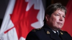RCMP Commissioner Brenda Lucki listens to a question while providing an update on the ongoing investigation, arrest and charges against Cameron Ortis at RCMP National Headquarters in Ottawa on Tuesday, September 17, 2019. THE CANADIAN PRESS/Chris Wattie