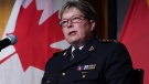 RCMP Commissioner Brenda Lucki provides an update on the ongoing investigation, arrest and charges against Cameron Ortis at RCMP National Headquarters in Ottawa on Tuesday, September 17, 2019. THE CANADIAN PRESS/Chris Wattie