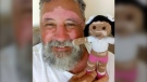 Warm online responses have been pouring for a Brazilian grandfather who crochets dolls with different body types, skin disorders, physical impairments and hearing aids. (João Stanganelli Junior)