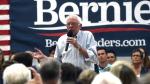 Sen. Bernie Sanders speaks during a campaign stop at the Carson City Community Center Gymnasium, Friday, Sept. 13, 2019 in Carson City, Nev. (Jason Bean/The Reno Gazette-Journal via AP)