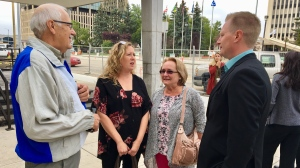 Carolyn Strom outside of the Court of Appeal in Regina (Gareth Dillistone / CTV News Regina)
