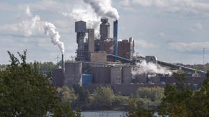 The Northern Pulp Nova Scotia Corporation mill is seen in Abercrombie, N.S. on Wednesday, Oct. 11, 2017. THE CANADIAN PRESS/Andrew Vaughan
