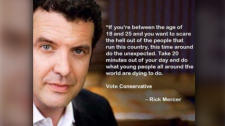 "Comedian Rick Mercer said this meme posted by Burnaby North Seymour Conservative Constituency Association is ""all fake."""