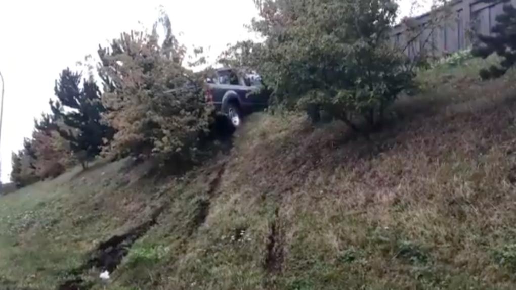 Truck stuck in Delta
