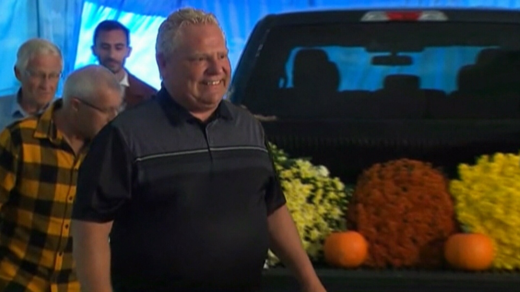 Premier ford gets booed at plow match, blames NDP