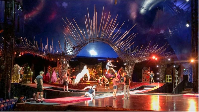Performers rehearse for Cirque du Soleil's 'Alegria.' (Tom Podolec /CTV News Toronto)