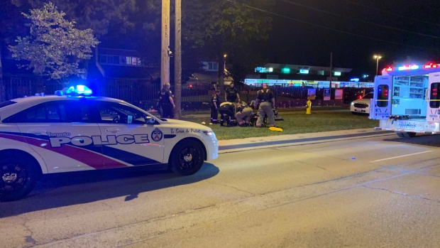 Police respond to a double shooting in the area of Jane Street and York Gate Boulevard Tuesday September 17, 2019. (Jorge Costa)