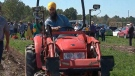 NDP Leader Jagmeet Singh participates in the International Plowing Match in Verner, Ont., on Tuesday, Sept. 17, 2019.