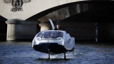 A SeaBubble on the river Seine in Paris