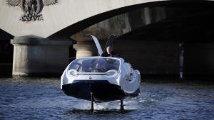 A SeaBubble on the river Seine in Paris