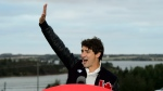 Liberal Leader Justin Trudeau holds a rally at the home of Liberal candidate of Lawrence MacAulay, in Midgell, P.E.I., Tuesday, Sept. 17, 2019. (THE CANADIAN PRESS / Sean Kilpatrick)