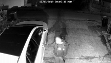 Surveillance footage shows a woman entering the man's car in East Vancouver.