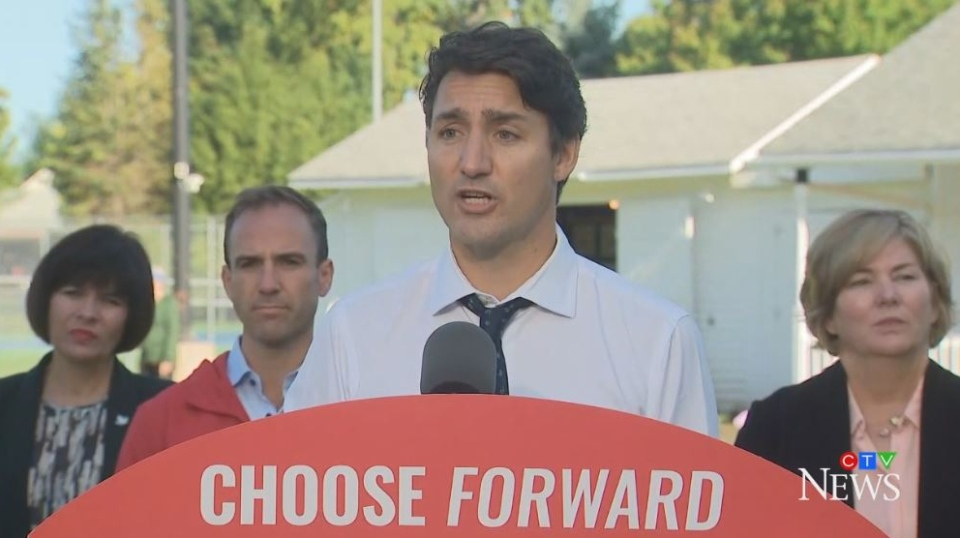 Liberal Leader Justin Trudeau makes a campaign stop in Fredericton on Wednesday, Sept. 18, 2019.