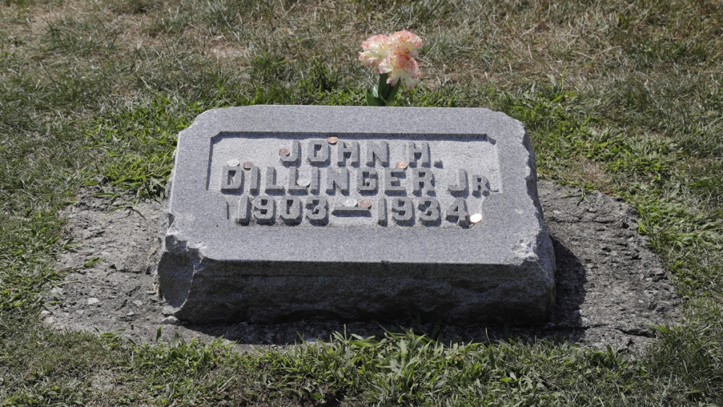 John Dillinger's headstone at Crown Hill Cemetery