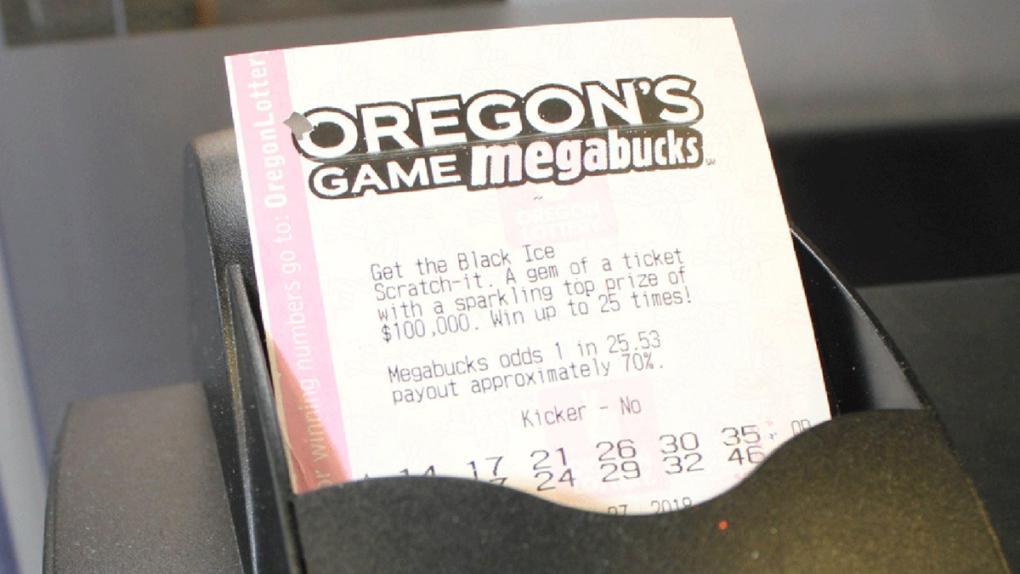 An Oregon Megabucks lottery ticket.