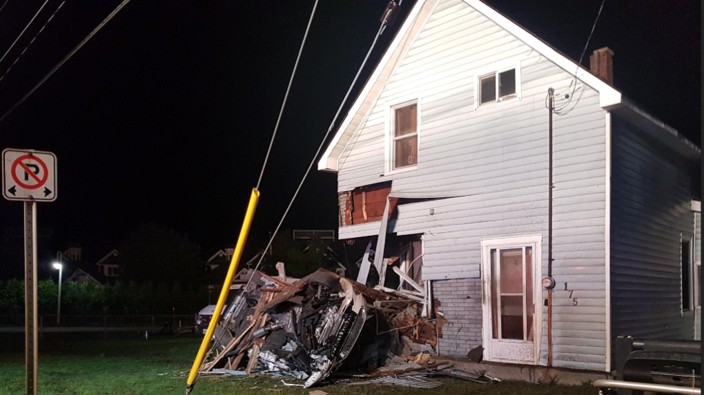 Vehicle smashes into Midland house in early morning hours