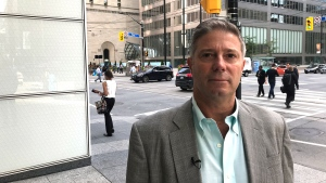Russ Lewis lost nearly $19,000 in a matter of minutes after his wallet was taken from him on the way to lunch in Toronto's financial district. (Nick Dixon / CTV News Toronto)