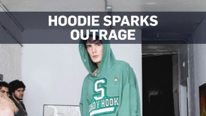 School shooting-themed hoodies spark fierce online