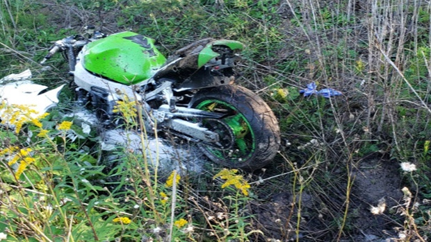 Motorcyclist seriously injured in crash that may have involved a black SUV