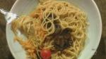 Noodles with sesame peanut sauce