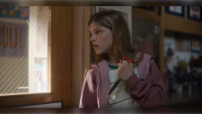 A new PSA by the anti-gun violence advocacy group Sandy Hook Promise released Wednesday depicts children using common 'back-to-school' items as means of self-defence during a school shooting. (Sandy Hook Promise)