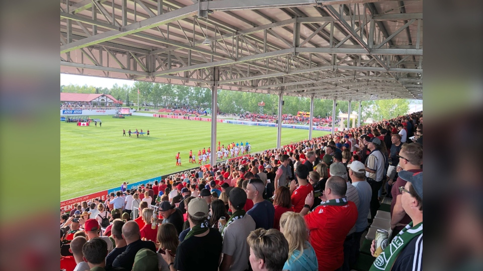 ATCO Field at Spruce Meadows can hold up to 6,000 people. A new, 10-year development plan calls for a stadium with double that capacity.