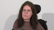Julia Lamb, who has spinal muscular atrophy, spoke at a news conference after learning her case was adjourned at her request.