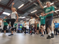 People living with Parkinson's disease participate in a free community class at the Parkinson Wellness Project: Sept. 18, 2019 (CTV News)