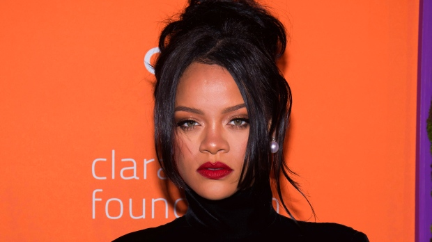 This Sept. 12, 2019 file photo shows Rihanna at the 5th annual Diamond Ball benefit gala in New York. Rihanna believes women of all shapes, colors and sizes should be celebrated, and that spirit of inclusion has made her lingerie and beauty lines massive successes. Her mission will be showcased Friday as Amazon Prime streams her New York Fashion Week show for Savage X Fenty in more than 200 countries and territories. (Photo by Charles Sykes/Invision/AP, File)