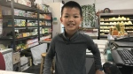 Steven Huang likes helping out at Eastern Market. (Saron Fanel/CTV Saskatoon)