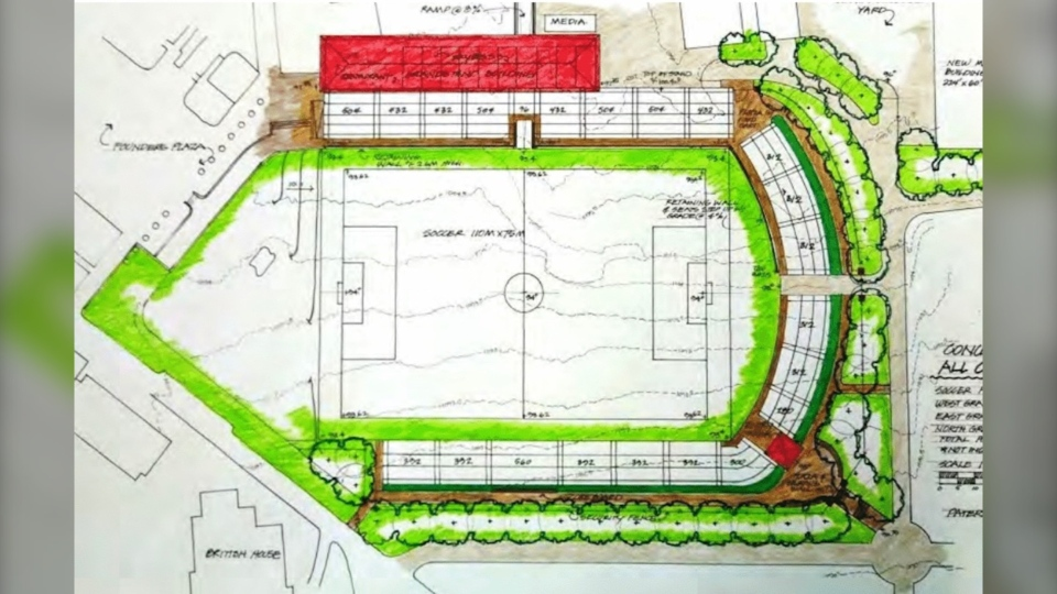 A plan shows the proposed soccer stadium at Spruce Meadows. (Supplied/Spruce Meadows)