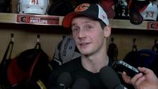 Flames prospect's biggest fan