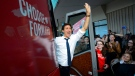 Liberal Leader Justin Trudeau visits the campaign office of Liberal candidate candidate Lenore Zann in Truro, N.S., on Wednesday, Sept. 18, 2019. THE CANADIAN PRESS/Sean Kilpatrick