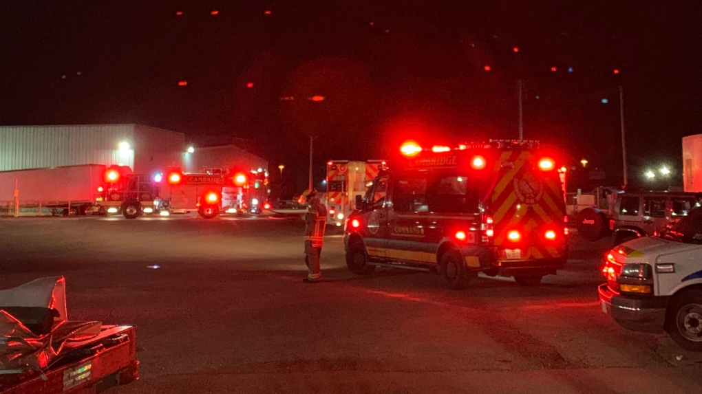 Crews respond to chemical fire in Cambridge