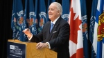 Former Prime Minister Brian Mulroney takes part in a ceremony to officially open the Brian Mulroney Institute of Government at St. Francis Xavier University in Antigonish, N.S., on Wednesday, Sept. 18, 2019. THE CANADIAN PRESS/Riley Smith