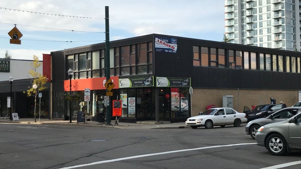 Proposed tower location in Oliver neighbourhood. Wednesday, Sept. 18, 2019 (CTV News Edmonton)